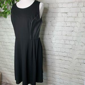 Gibson Latimer Black Faux Leather Sleeveless Dress